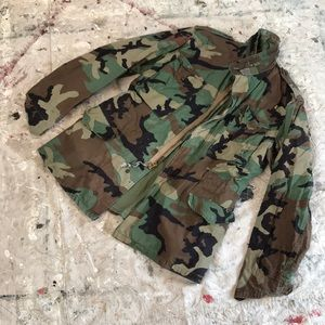 Auth. Vintage Grunge Lined Military Jacket M/L